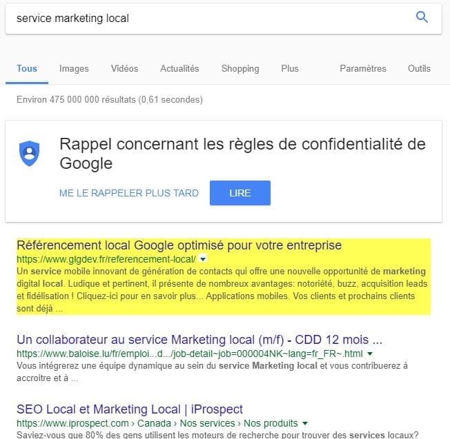 optimisez votre marketing local avec les services GLGDEV