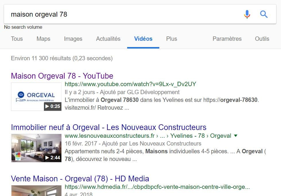 maison orgeval 78 YouTube position 1